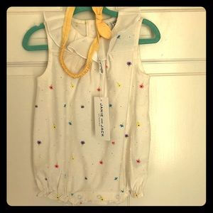 Janie and Jack Bubble Romper and Headband